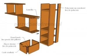 Drewniana półka wisząca