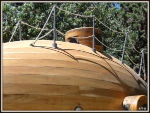 Drewniana łódź podwodna wooden submarine (3)